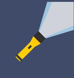flashlight flat icon image vector image