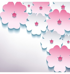 Floral abstract stylish background with 3d flower vector