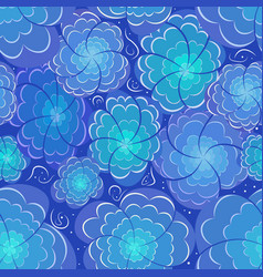 flower floral seamless pattern background vector image