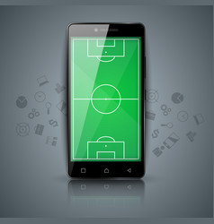 football soccer - sport template smartphone icon vector image