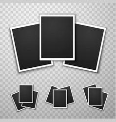 Foto frame collage set collection vector