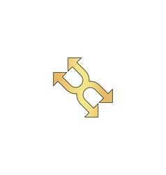 Four arrows computer symbol vector