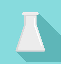Glass flask icon flat style vector