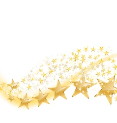 Golden stars flying vector