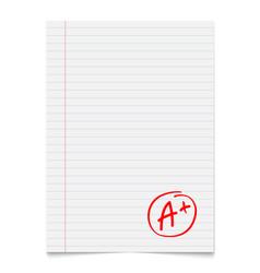 Grade result a plus hand drawn vector