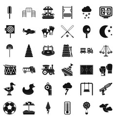 Great playground icons set simple style vector