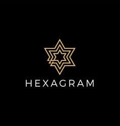 hexagram stars logo icon vector image