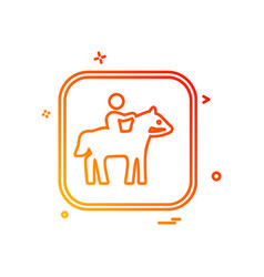 horse riding icon design vector image