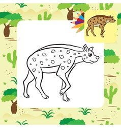 Hyena coloring page vector