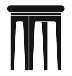 Kid plastic backless chair icon simple style vector