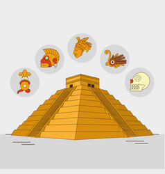 Maya culture design vector