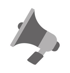 Megaphone marketing online gray color vector
