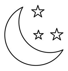 Moon icon in creative design with elements for vector