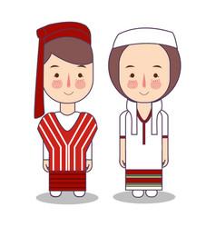 myanmar burma wedding couple cute indonesian vector image