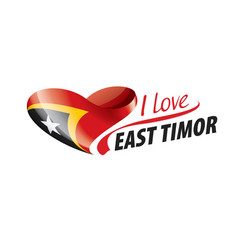 National flag east timor in shape a vector