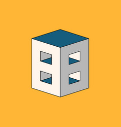 Number 88 logo with 3d isometric effect vector