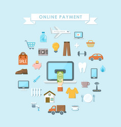 online payment concept vector image