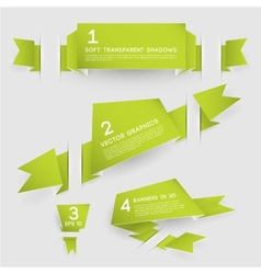 Paper Banners in Three Dimensons vector