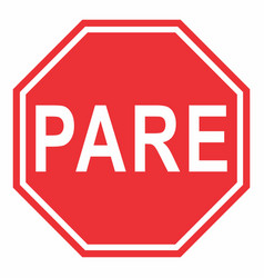 pare traffic sign vector image