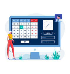 Patient scheduling appointment online vector