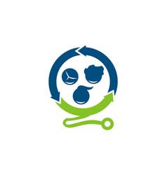 pediatrician clinic logo design template vector image