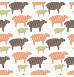 Pink brown and green natural color sheep vector