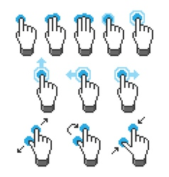 Pixel touch screen gestures vector