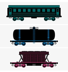 Railroad cars vector