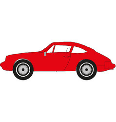 Red car icon on white background vector