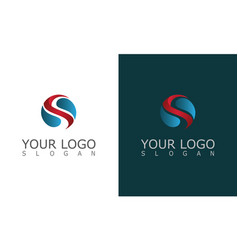 Round letter s 3d logo vector
