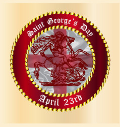 Saint georges day button vector