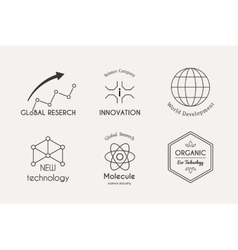 science logo set vector image