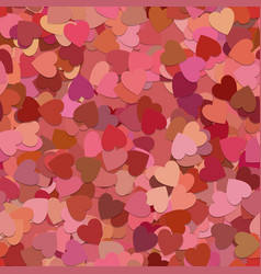 Seamless geometric heart background pattern - vector