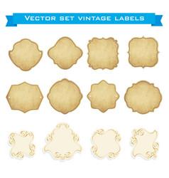 set of vintage frames for emblems labels vector image