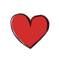 Simple heart symbol vector