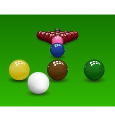 Snooker Pyramid Balls vector image