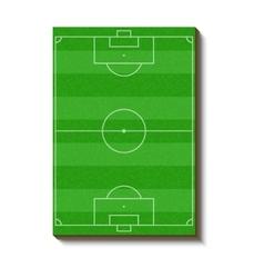Soccer field icon cartoon style vector image