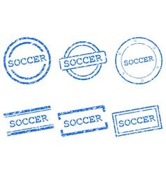 Soccer stamps vector