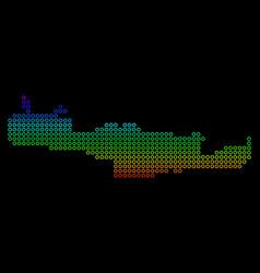 Spectrum crete island map vector