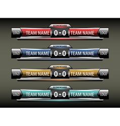 sport scoreboard design template vector image