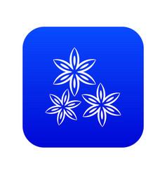 Star anise icon digital blue vector