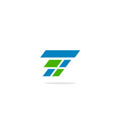 T initial shape logo vector