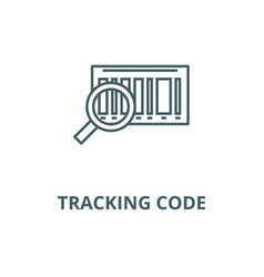 Tracking code line icon linear concept vector