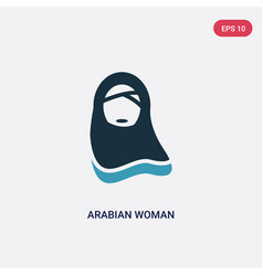 two color arabian woman icon from other concept vector image