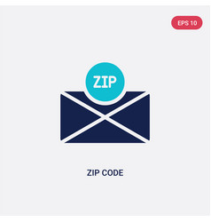 Two color zip code icon from delivery and vector
