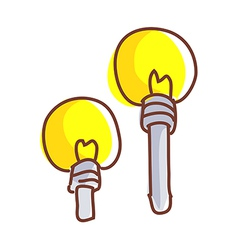 Two electric lights vector