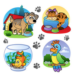 Various pets images 1 vector