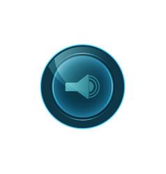 Web button sound on white background design vector