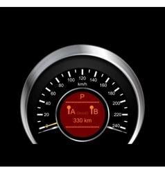Abstract of metal speedometer vector image
