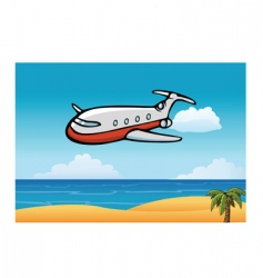 airplane sky vector image vector image